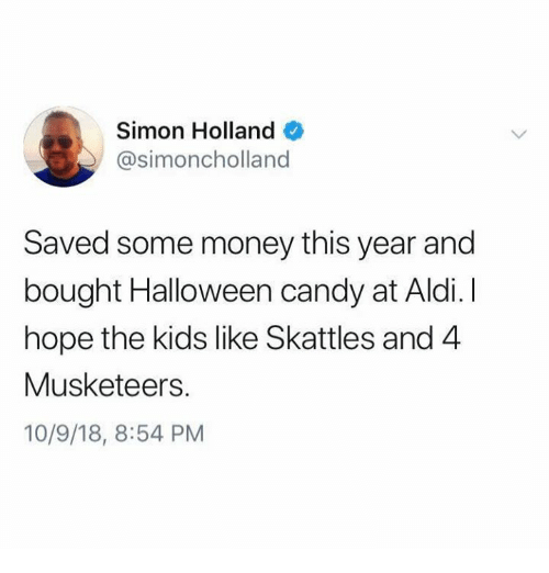 Simon Holland Saved Some Money This Year and Bought Halloween Candy