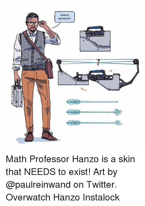 simple geometry math professor hanzo is a skin that needs to exist