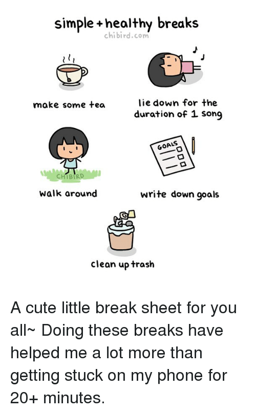 Simple +Healthy Breaks Chibirdcom Lie Down for the Duration of 1
