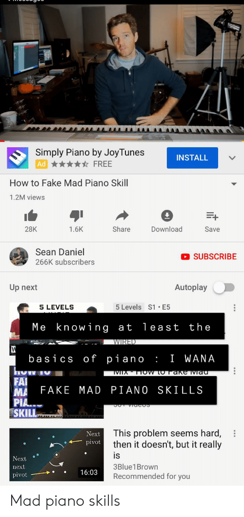 Simply Piano by JoyTunes INSTALL FREE Ad How to Fake Mad