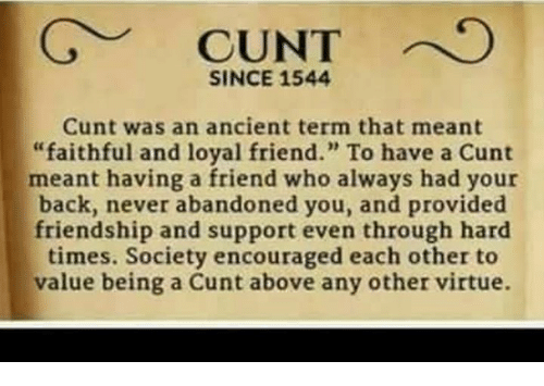 The meaning of cunt