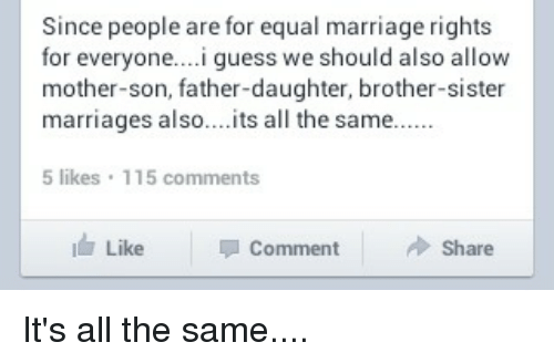 Since People Are For Equal Marriage Rights For Everyonei Guess We
