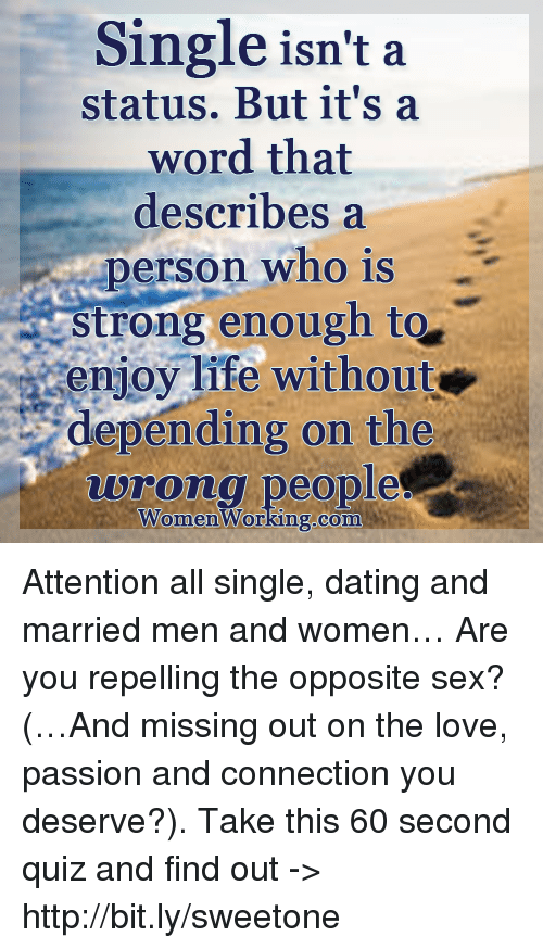 Married woman dating a single man