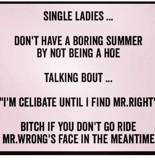 Single and celibate