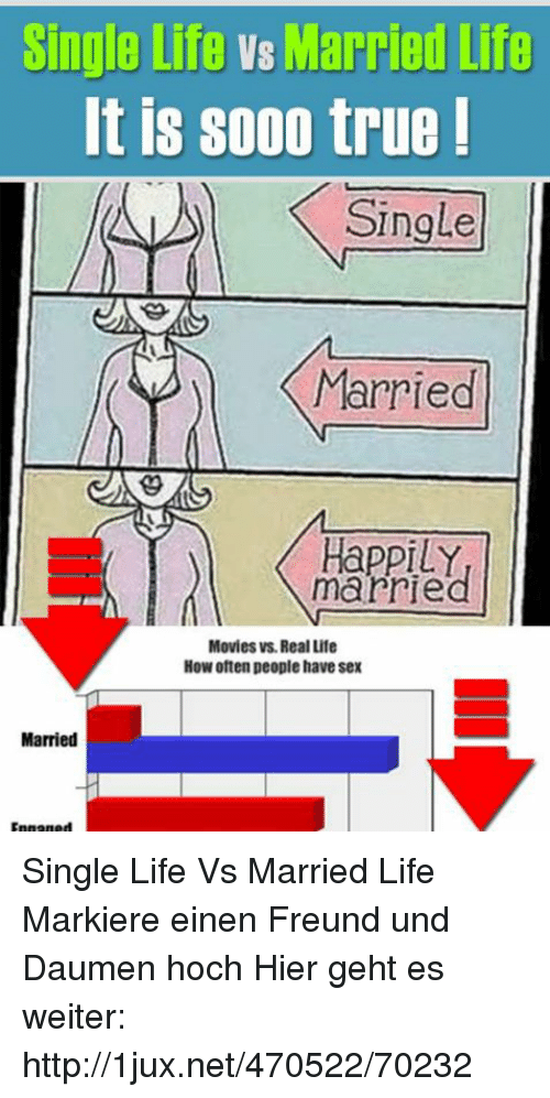 is single life or married life A fascinating study from the us, alone together: how marriage in america is changing, compared two national surveys of married life, one from 1980 and the other from 2000.