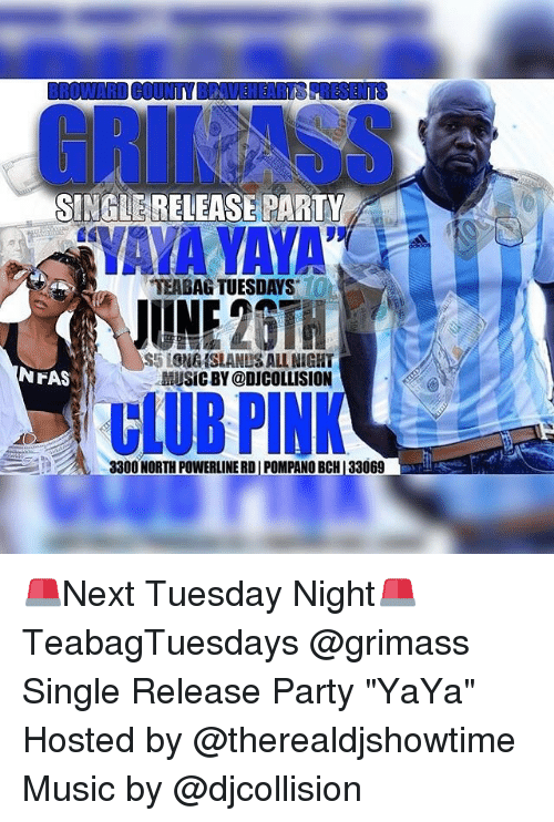Single Release Party Ton Teabag Tuesdays June20t