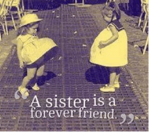 sister is a forever friend meme on sizzle