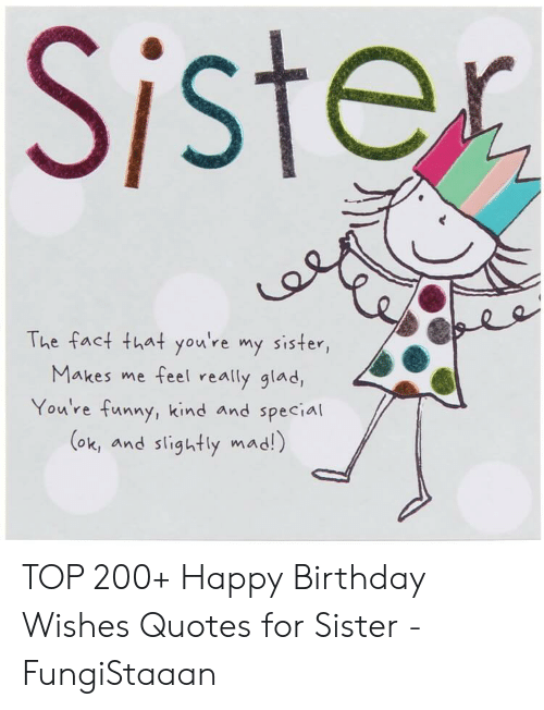 Fabulous Sister The Fact That Youre My Sister Makes Me Feel Really Glad Personalised Birthday Cards Paralily Jamesorg