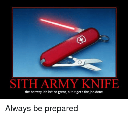 25 Best Memes About Sith Army Knife Sith Army Knife Memes