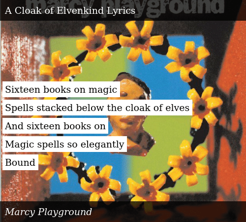 Sixteen Books on Magic Spells Stacked Below the Cloak of
