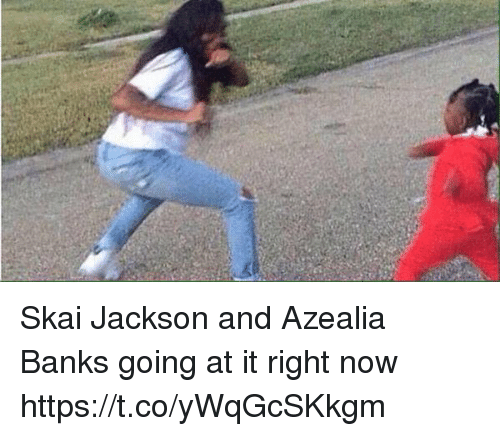 Funny, Bank, and Banks: Skai Jackson and Azealia Banks going at it right now https://t.co/yWqGcSKkgm