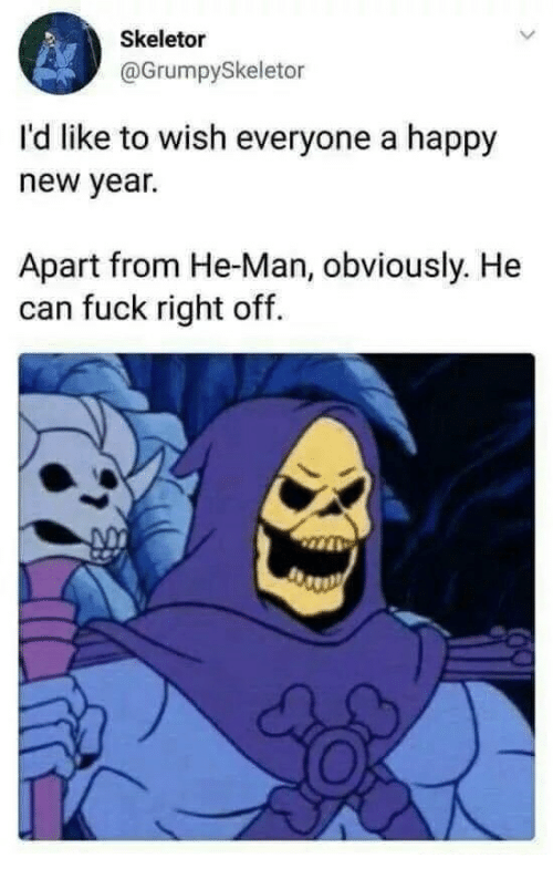 Skeleton Skeletor Id Like To Wish Everyone A Happy New Year Apart
