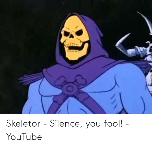 Skeletor Silence You Fool Youtube Youtube Com Meme On Me Me