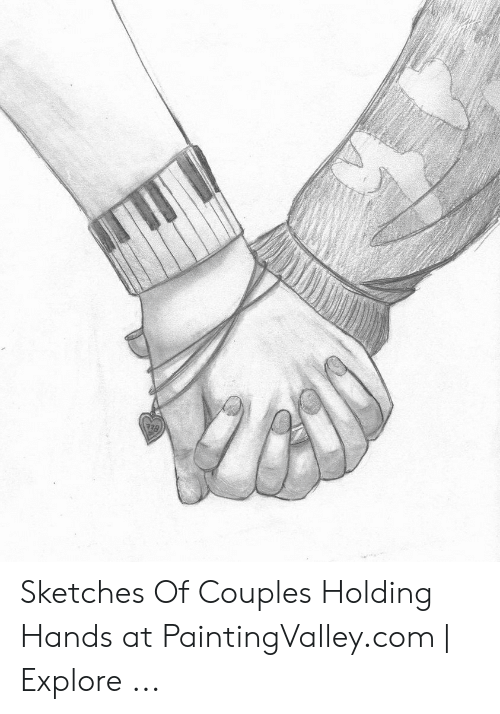 Sketches Of Couples Holding Hands At Paintingvalleycom