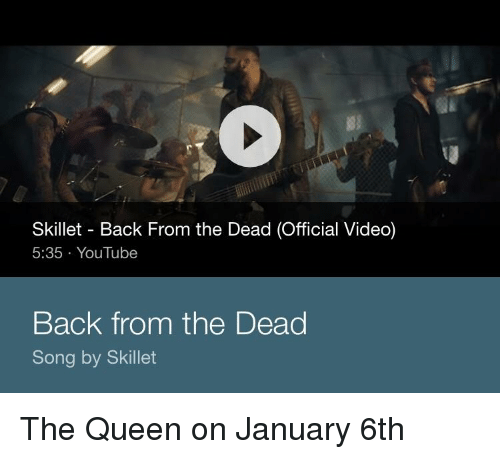 Skillet Back From the Dead Official Video 535 YouTube Back