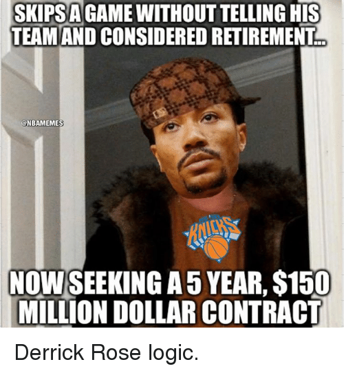 skipsa his team and considered retirement nbamemes nowseeking a5 year 16392744 ✅ 25 best memes about derrick rose derrick rose memes