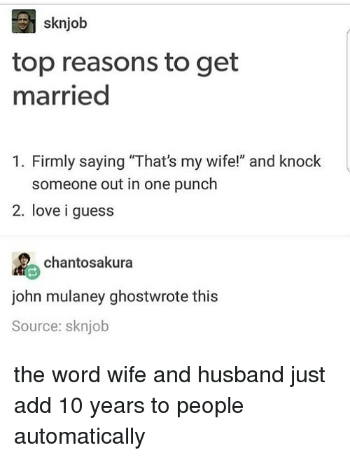 Top reasons to get married