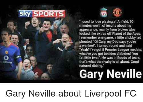 Sky SPORTS 'I Used to Love Playing at Anfield 90 Minutes Worth of