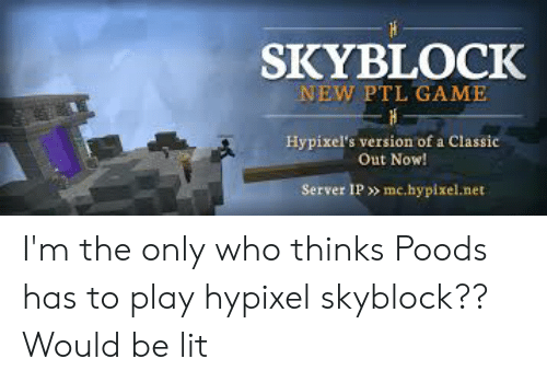 SKYBLOCK NEW PTL GAME Hypixel's Version of a Classic Out Now
