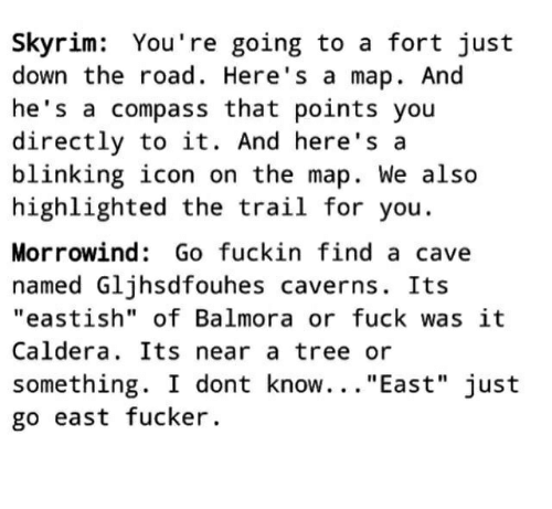 Skyrim Youre Going To A Fort Just Down The Road Heres A Map And