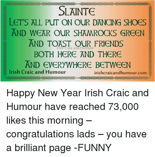 SLAINTE LET\'S ALL PUT ON OUR DANCING SHOES AND WEAR OUR SHAMROCKS ...