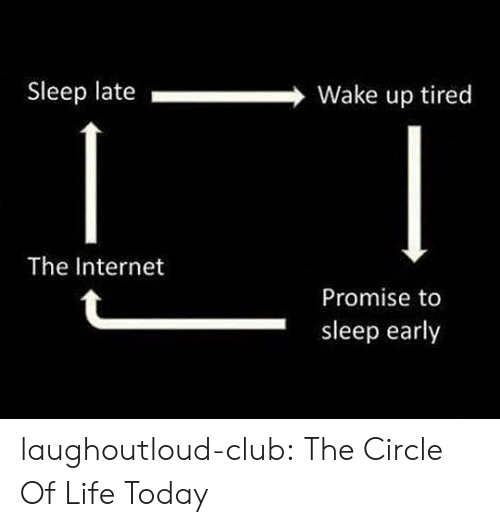 Club, Internet, and Life: Sleep late Wake up tired  The Internet  Promise to  sleep early laughoutloud-club:  The Circle Of Life Today
