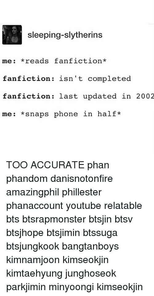 Sleeping-Slytherins Me Reads Fanfiction Fanfiction Isn't Completed