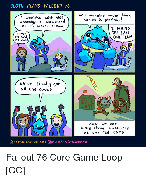We Car: SLOTH PLAYS FALLOUT 76 Wil Mankind Never Learn I Wouldn't