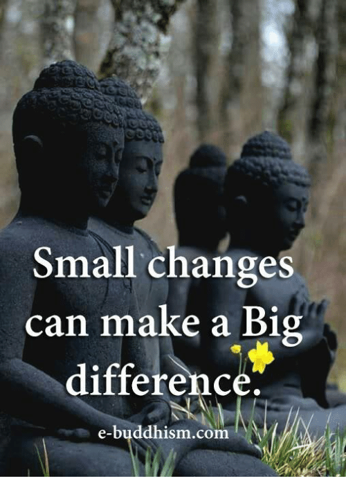 a small change can make a big difference essay