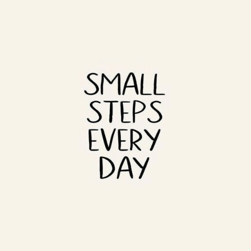 Steps,  Small, and Every: SMALL  STEPS  EVERY