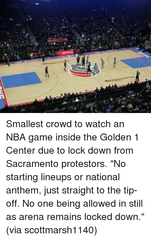 Smallest Crowd to Watch an NBA Game Inside the Golden 1 Center Due