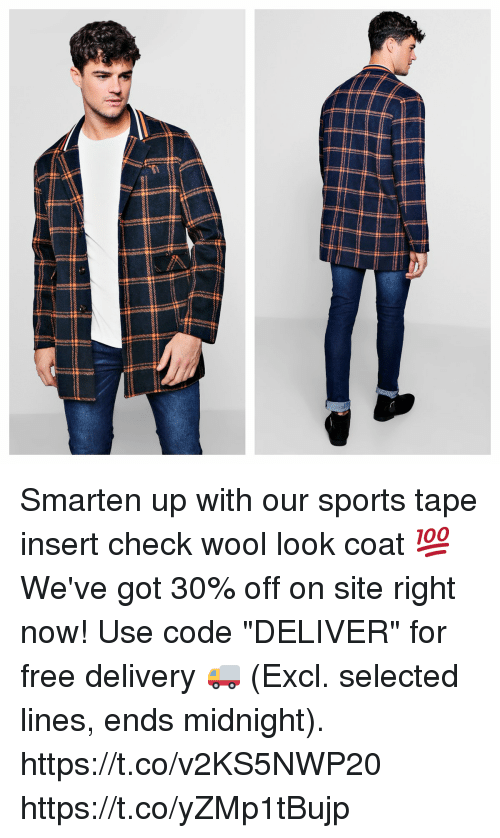 23938ef21523 Memes, Sports, and Free: Smarten up with our sports tape insert check wool
