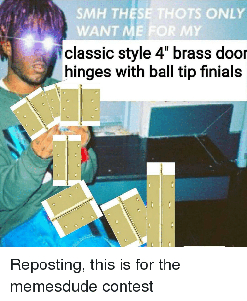 SMH THESE OTS ONLY WANT ME FOR MY Classic Style 4 Brass Door ...