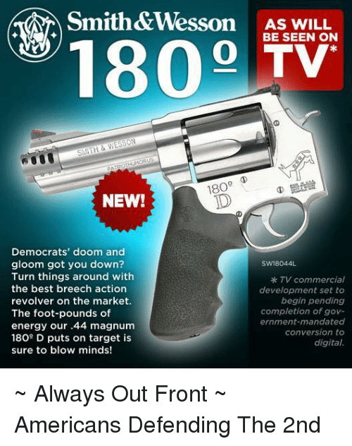 Smith&Wesson AS WILL 1800 BE SEEN ON TV 18O NEW! Democrats
