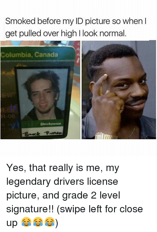So Drivers Canada That License My Pulled L Get Grade Signature 2 Abrockpierson Swipe Level Really And Over I Columbia High Yes Id When Normal Picture Is Up For Smoked Look Me Close Legendary Before Left