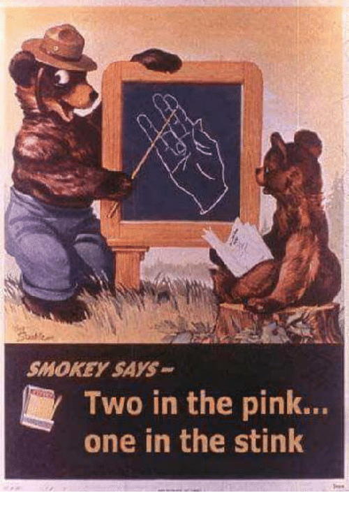 two in the pink one in the stink sign