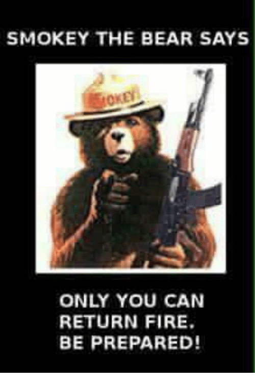 Smokey The Bear Says Only You Can Return Fire Be Prepared Fire