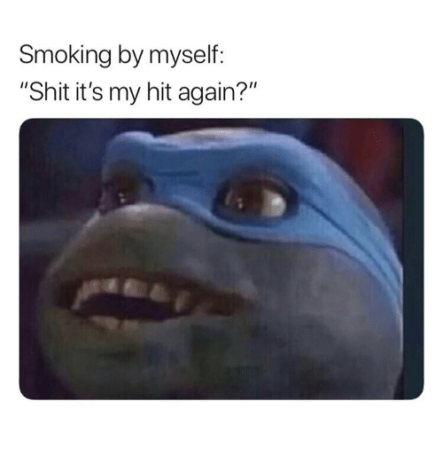 "Shit, Smoking, and Weed: Smoking by myself:  ""Shit it's my hit again?"""