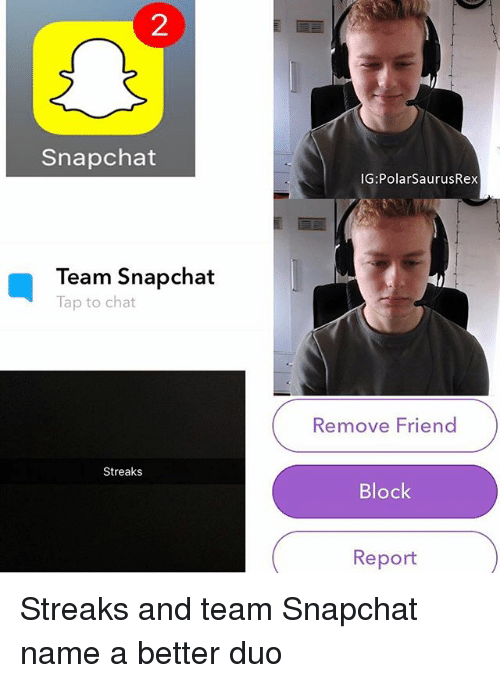 snapchat team snapchat tap to chat streaks ig polar saurusrex 22960208 ✅ 25 best memes about snapchat name snapchat name memes,Name Memes