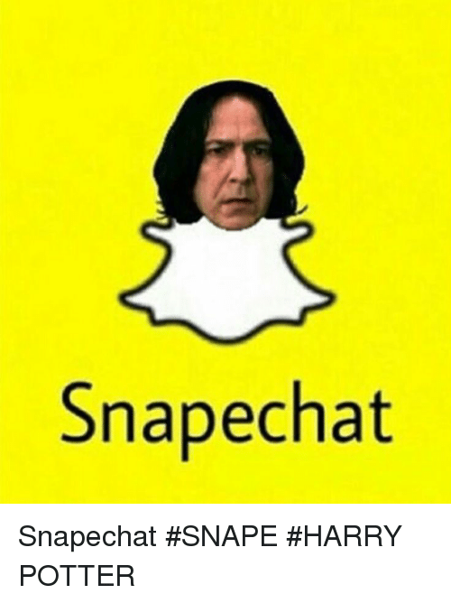 Image result for snape chat