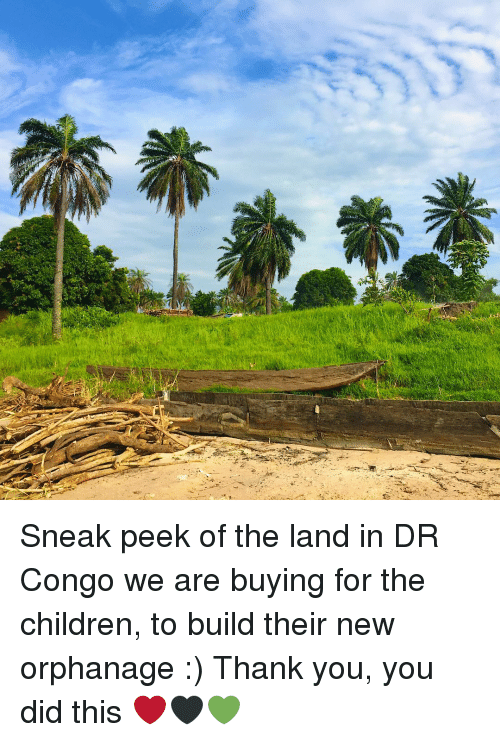 Children, Memes, and Thank You: Sneak peek of the land in DR Congo we are buying for the children, to build their new orphanage :) Thank you, you did this ❤🖤💚