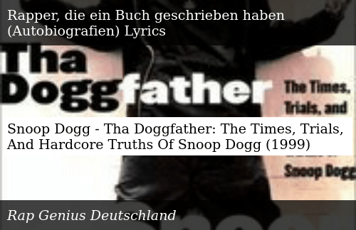 Snoop Dogg - Tha Doggfather the Times Trials and Hardcore Truths of