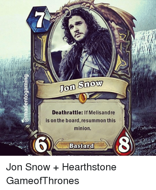 Snow Jon Death Rattle If Melisandre Is On The Boardresummon This