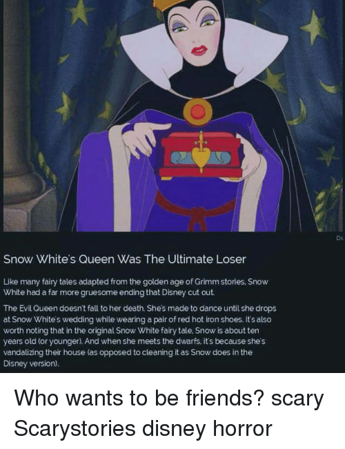 Snow White's Queen Was the Ultimate Loser Like Many Fairy Tales