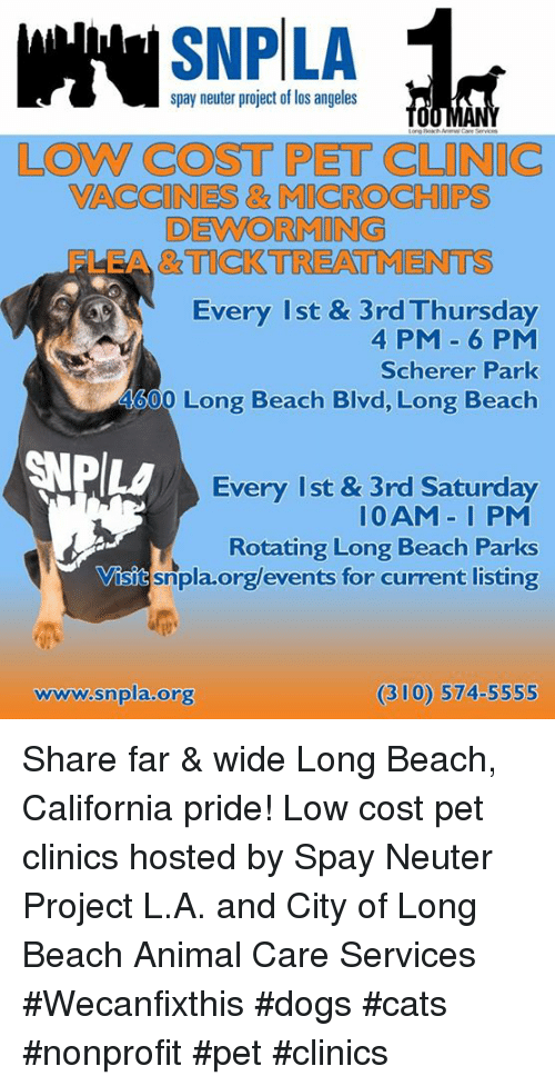 SNP LA Spay Neuter Project of Los Angeles LOW COST PET