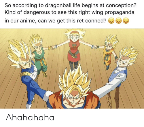 So According To Dragonball Life Begins At Conception Kind Of