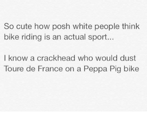 So Cute How Posh White People Think Bike Riding Is an Actual