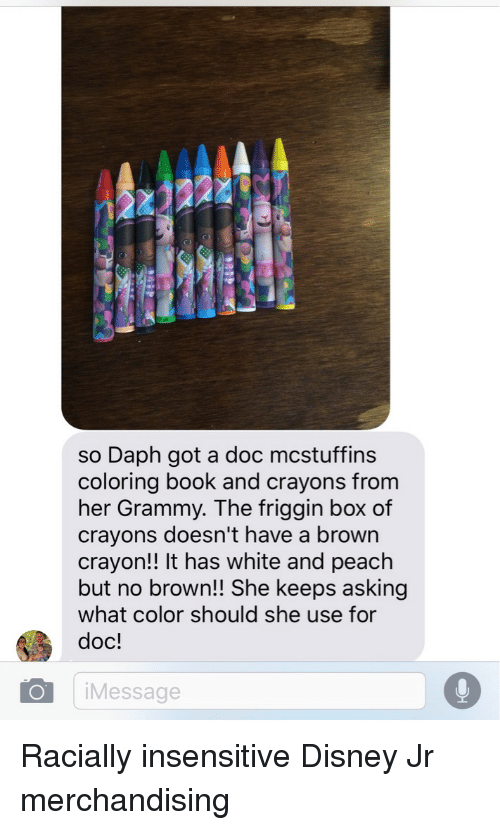 So Daph Got A Doc Mcstuffins Coloring Book And Crayons From Her