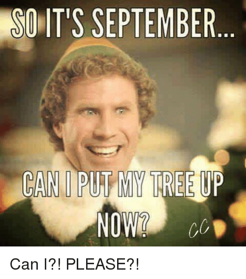 So Its September Can Put My Tree Up Now Can I Please