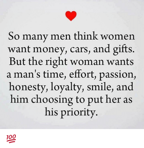 What a woman want in a man